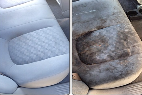a with istock good starts cleaning car all interior it vacuum shampoo